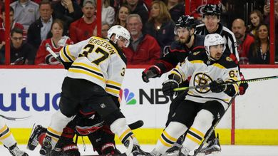 Bruins beat Carolina 2-1, take 3-0 series lead