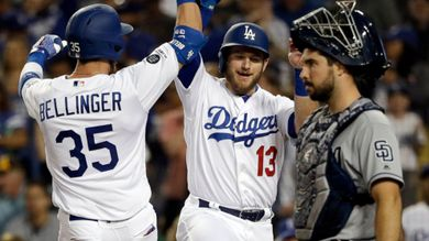 Bellinger, Pederson lead Dodgers to 6-3 victory over Padres