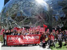 March on Amazon HQ: Seattle housing activists demand 'head tax' on big business