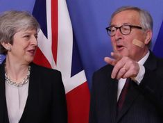 UK's May presses EU for Brexit compromise as clock ticks