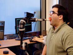 """Feed me, Alexa."" University of Washington team creates voice-controlled robot to help people eat"