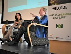 Sen. Maria Cantwell and Microsoft President Brad Smith put a Northwest spin on quantum computing