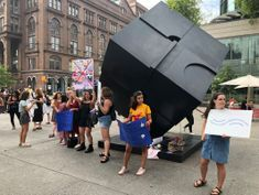 Sex tech companies and advocates protest unfair ad standards outside Facebook's NY HQ