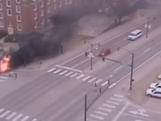 University employee saves man trapped in burning truck