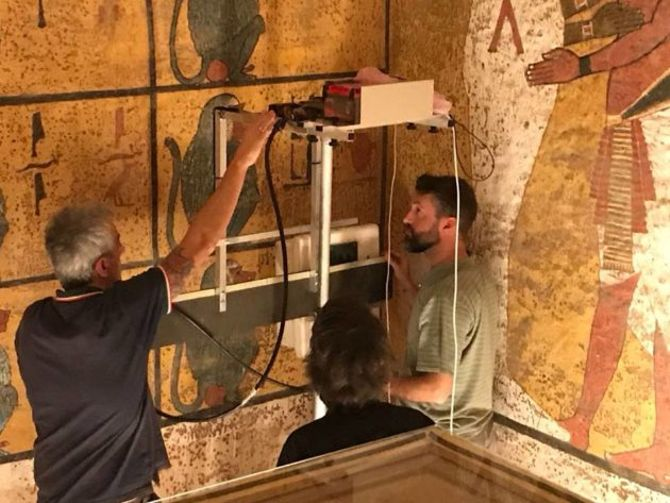 After years of study, radar scans rule out hidden rooms in King Tut's burial chamber