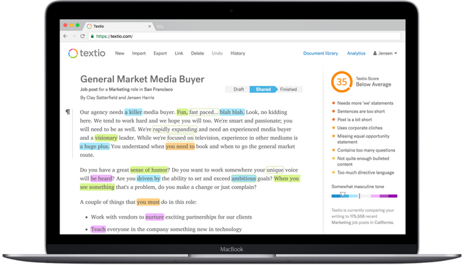 Augmented writing platform Textio now predicts what you want to say