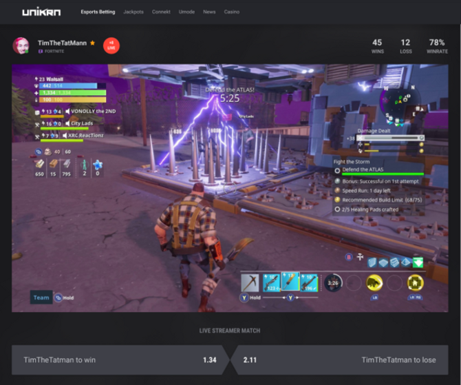 Esports betting startup Unikrn rolls out AI-powered tools that make it easier to gamble on games