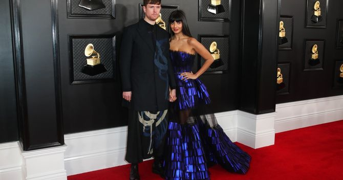 Jameela Jamil and boyfriend James Blake are not here for your Munchausen theories
