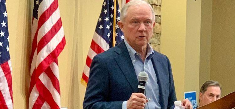 Jeff Sessions stresses Trump loyalty in Alabama Senate race